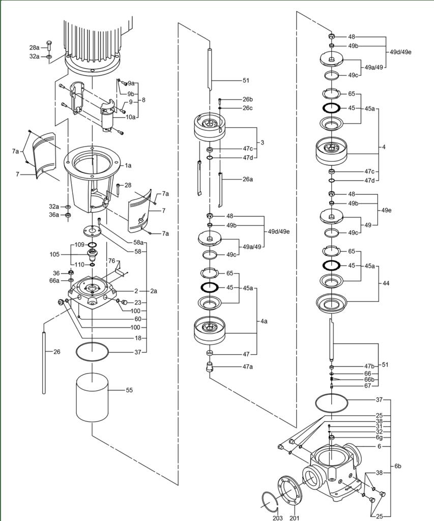 Деталировка насоса Grundfos CR 95-3-2 A-F-A-V-HQQV артикул: 99141750