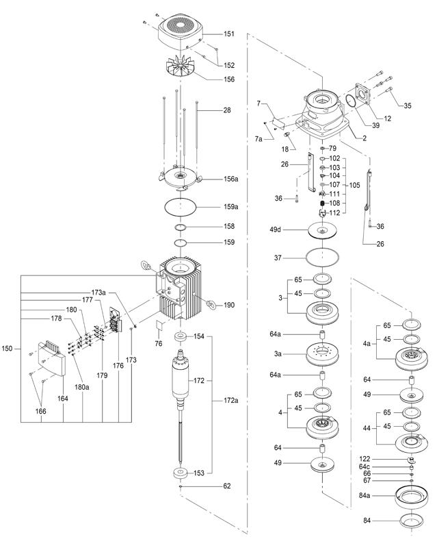 Деталировка насоса Grundfos MTH 8-1/1 A-W-A-AQQV артикул: 98891473