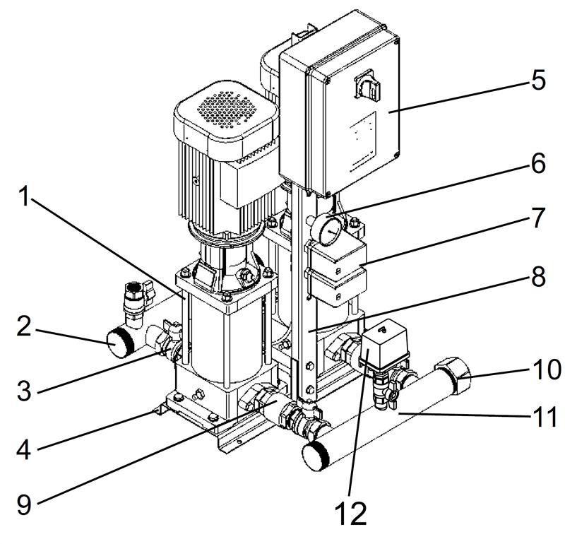 Насосные установки повышения давления Grundfos Hydro Multi-S CR