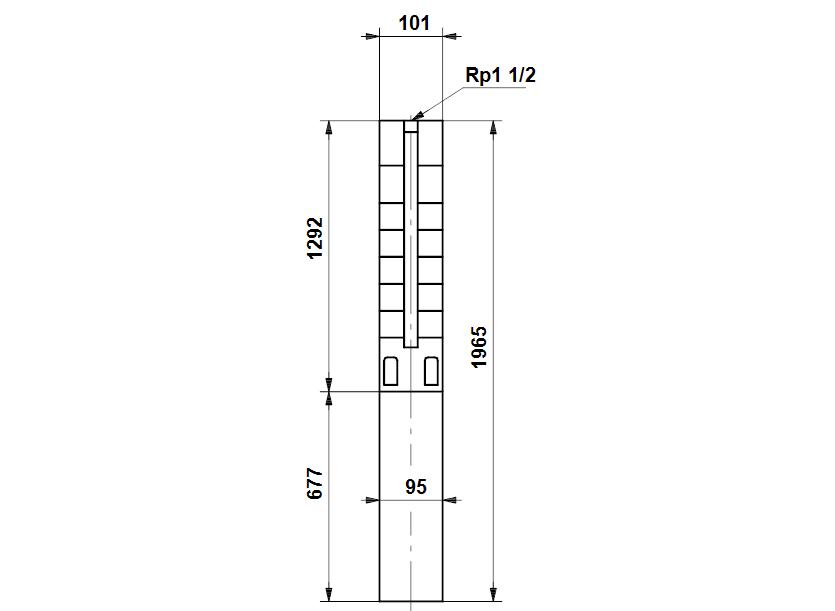 Габаритные размеры насоса Grundfos SP 5A-52N 5,5kW 3X380V 50Hz артикул: 5261952