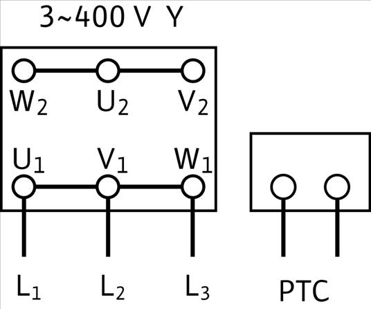 Схема подключений насоса Wilo MVIS 802-1/16/K/3-400-50-2 артикул: 2009051 ()