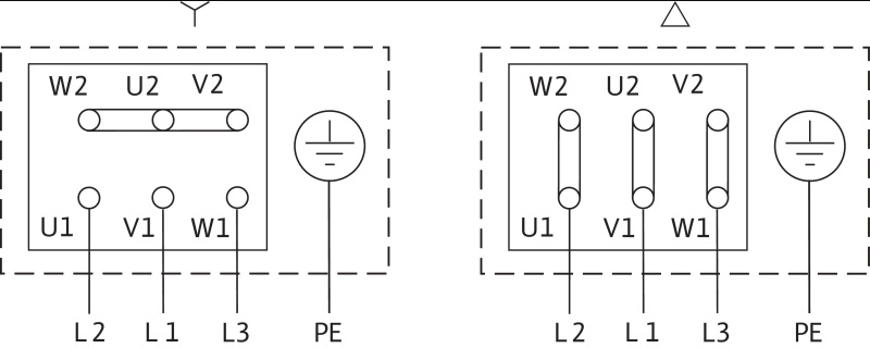 Схема подключений насоса Wilo IL 50/150-0,55/4 артикул: 2786054 (2088339)