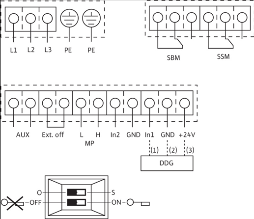 Схема подключений насоса Wilo STRATOS GIGA 65/1-21/2,3-R1 артикул: 2170182 ((2117170))