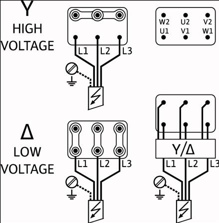 Схема подключений насоса Wilo HELIX FIRST V 1612-5/25/E/KS/400-50 артикул: 4201007