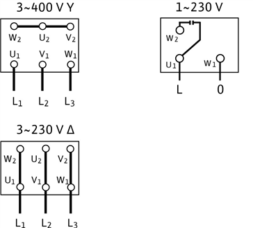 Схема подключений насоса Wilo MVIL 907-16/E/3-400-50-2/IE3 артикул: 4211122 ()