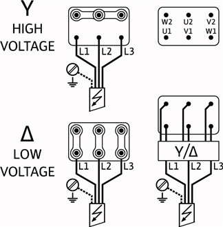 Схема подключений насоса Wilo HELIX V 207-1/16/E/S/400-50 артикул: 4201347 ((4164297))