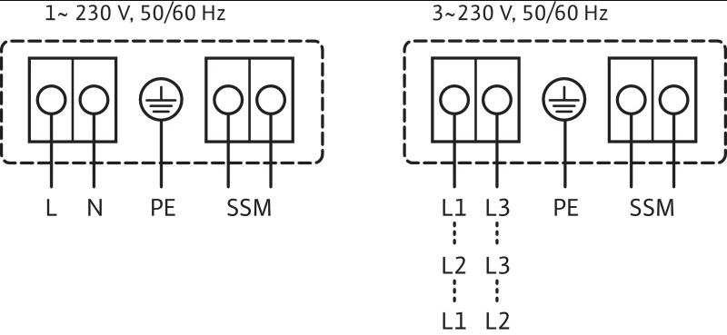 Схема подключений насоса Wilo STRATOS-Z 25/1-8 RG артикул: 2090469()