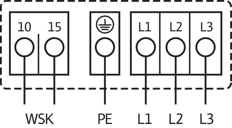 Схема подключений насоса Wilo TOP-SD 80/15 DM PN6 артикул: 2165569((2080094))