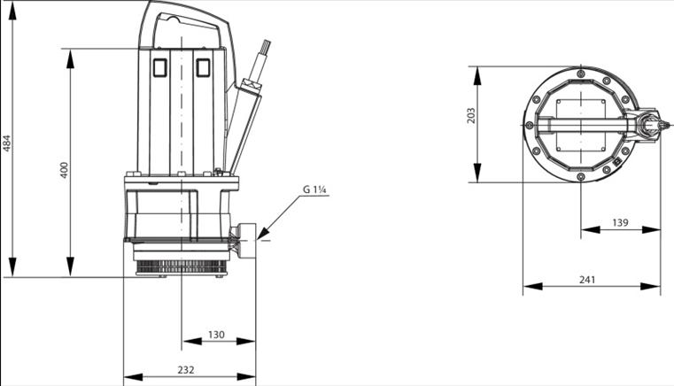 Габаритные размеры насоса Wilo TMT 32M113/7,5Ci артикул: 2780032((6070087))