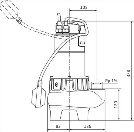 Габаритные размеры насоса Wilo TC 40/10-1-230/B артикул: 4050132()