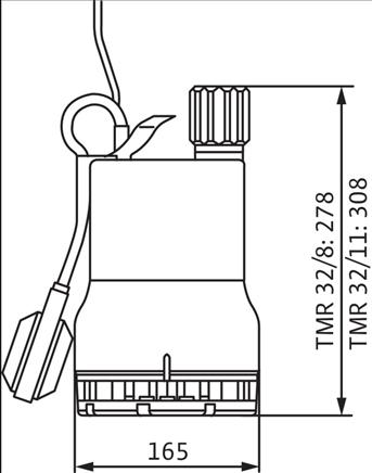 Габаритные размеры насоса Wilo TMR 32/8 артикул: 4145325()