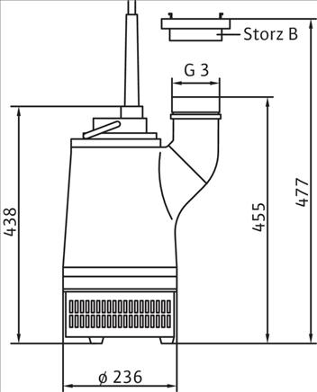 Габаритные размеры насоса Wilo KS 8 D артикул: 6001204()
