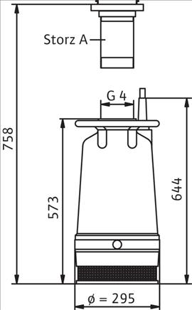 Габаритные размеры насоса Wilo KS 15 D артикул: 6019731()