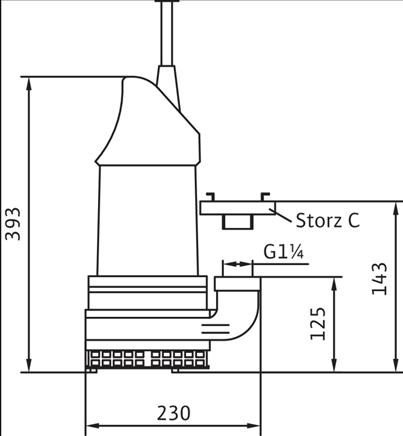 Габаритные размеры насоса Wilo KS 15 E артикул: 6042090()