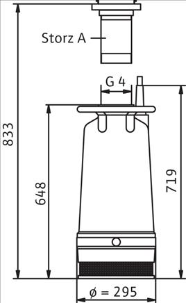 Габаритные размеры насоса Wilo KS 70 ZH D артикул: 6021343()
