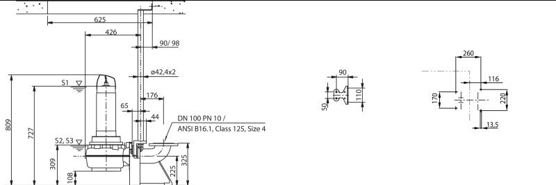 Габаритные размеры насоса Wilo FIT V10DA-424/EAD1-4-T0025-540-O артикул: 6081901()