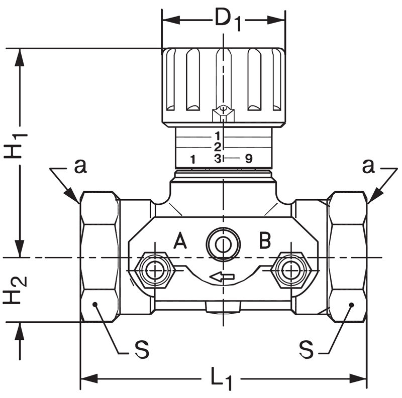 Ручные запорно-измерительные балансировочные клапаны Danfoss CNT