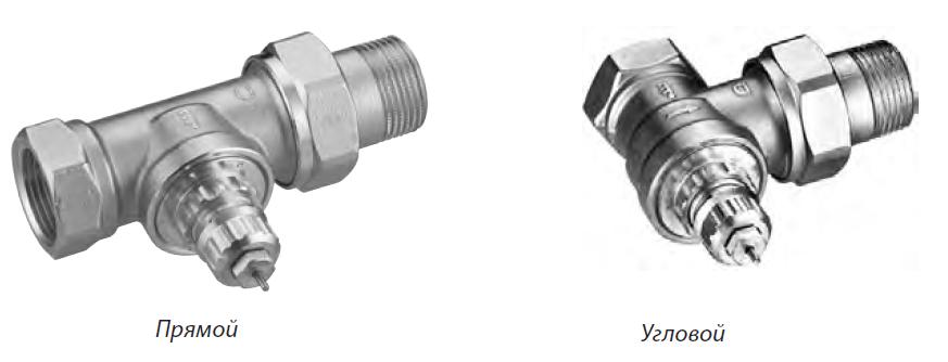 Клапаны RTR-G для однотрубной насосной и двухтрубной гравитационной систем отопления