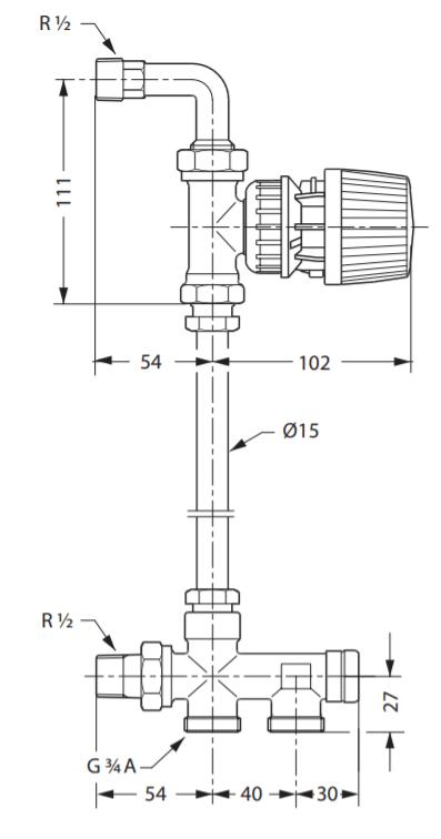 Гарнитура RTR-KЕ для однотрубной насосной системы отопления